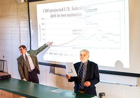 Menlo College Economics Professors Debate Fiscal Cliff