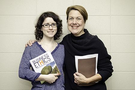 Marilyn MacLellan with Dr. Leslie Sekerka