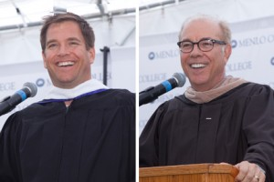 Michael Weatherly and Mark Templeton, keynote speakers at Commencement 2015
