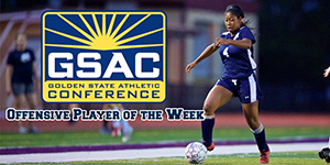 Menlo College's Danielle McCarthy Named GSAC Offensive Player of the Week
