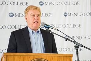 President Richard A. Moran Addresses Menlo College at OAKtoberFest