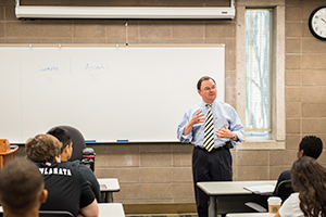 Assemblymember Rich Gordon Speaks to Menlo College Students