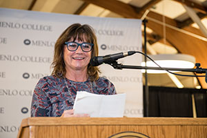 Brand Strategist Andy Cunningham Speaks at Menlo College Winter Commencement