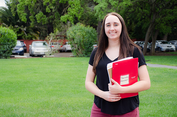 Menlo College Student Editor Taylor Morrow '16 Above the Fold