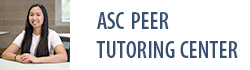 Academic Success Center Peer Tutoring Center