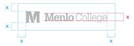Menlo College logo - horizontal lockup - clear space