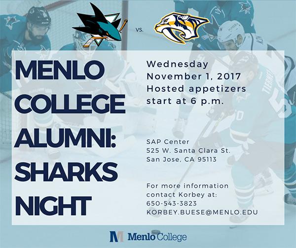 Menlo College Alumni Sharks Night