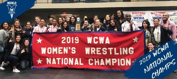 Menlo College Women's Wrestling Wins 2019 WCWA National Championship